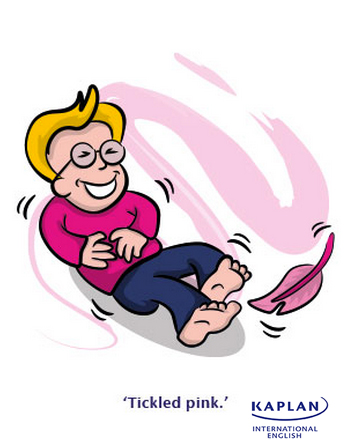 Idioms: Tickled pink