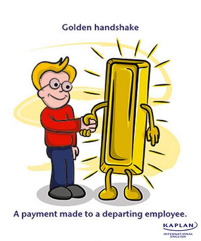 Idioms: Golden handshake