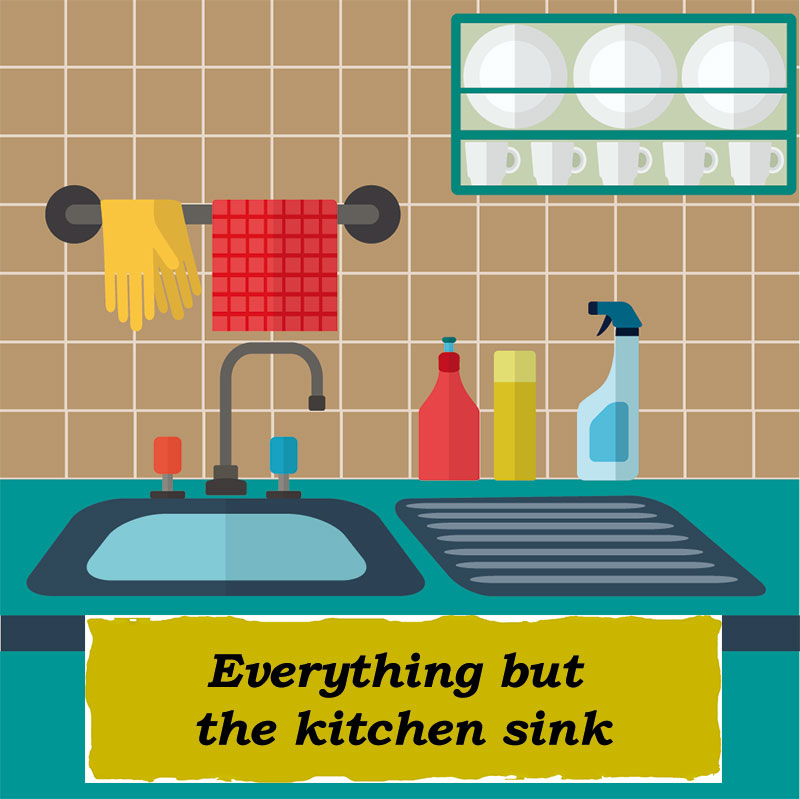 Idioms: Everything but the kitchen sink