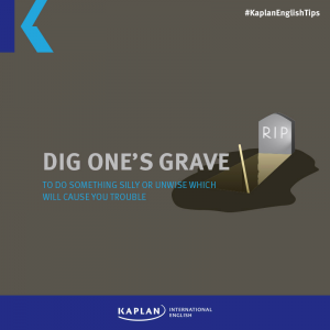 Idioms: To dig one's (own) grave