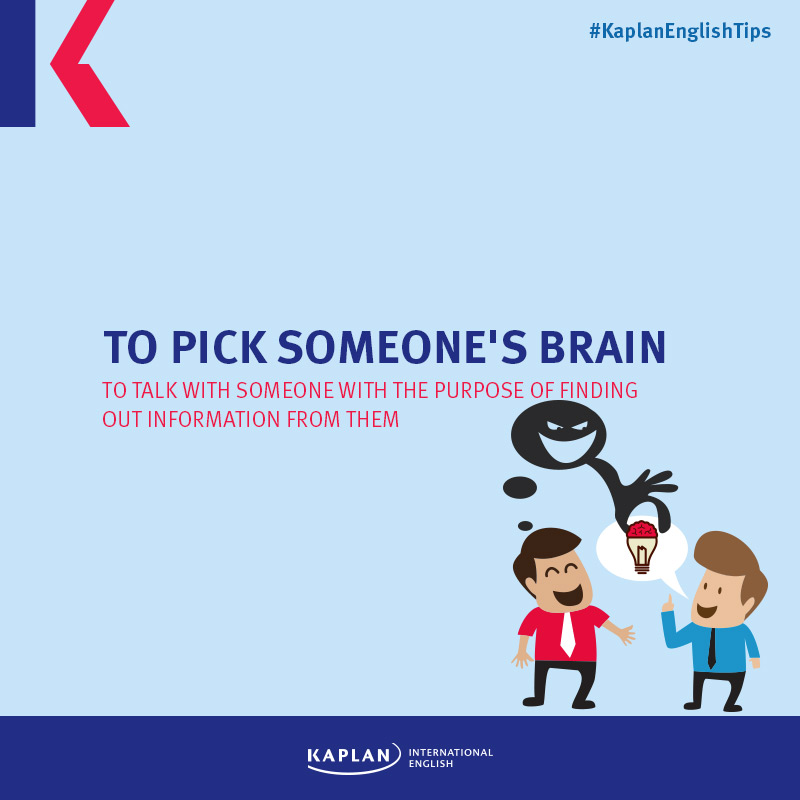 Idioms: To pick someone's brain