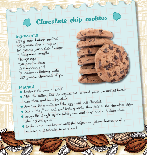 RECIPE – CHOCOLATE CHIP COOKIES