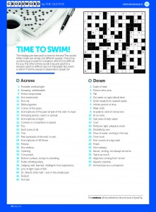 Crossword August