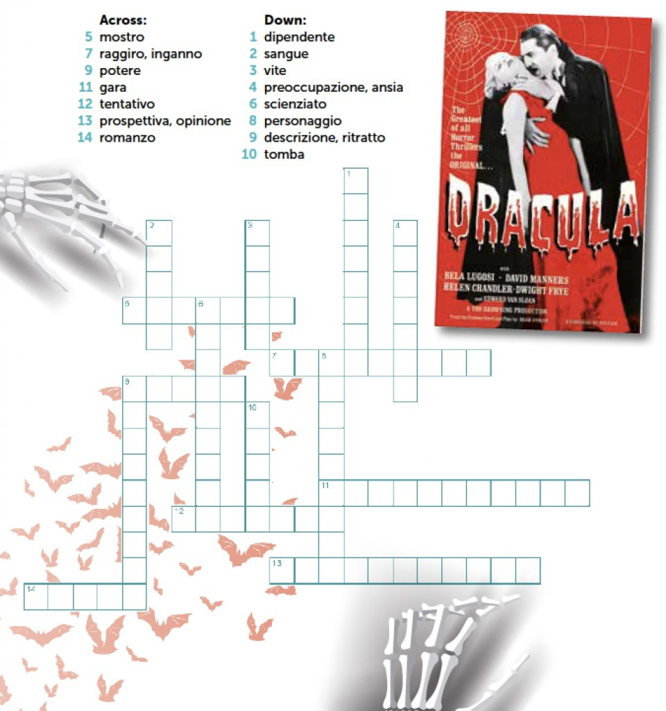 CROSSWORD – GOTHIC NOVELS