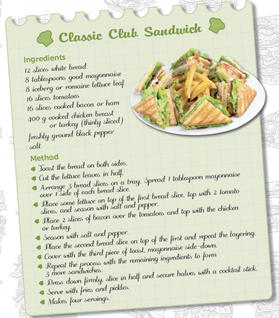 RECIPE – CLASSIC CLUB SANDWICH