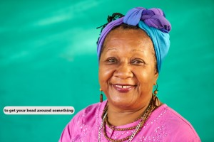 Real People Portrait Old Black Woman Smiling At Camera