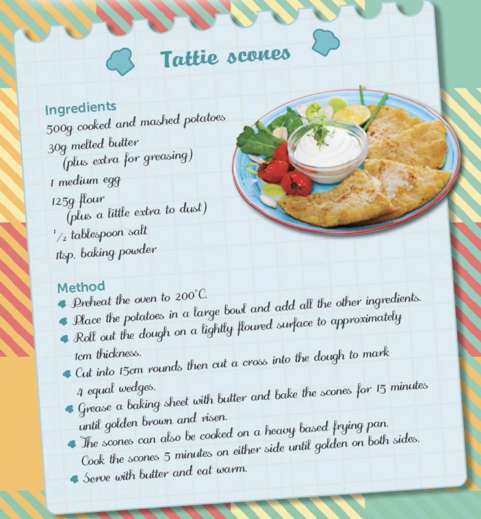 RECIPE – TATTIE SCONES