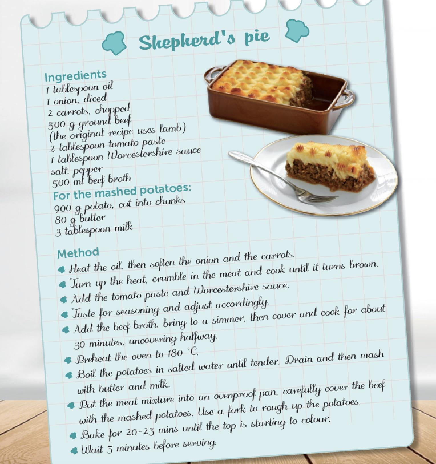 Ricetta In Inglese Traduzione.Recipe Shepherd S Pie Speakup Blog