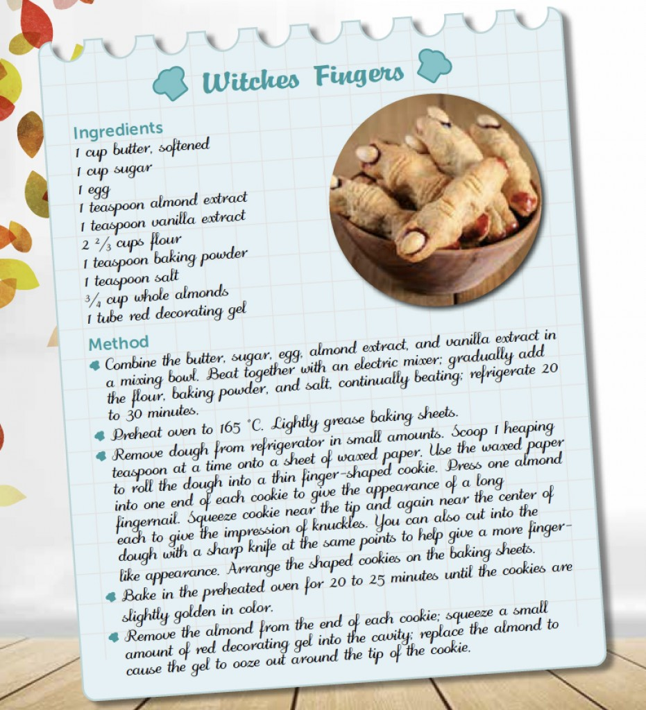 RECIPE – WITCHES FINGERS