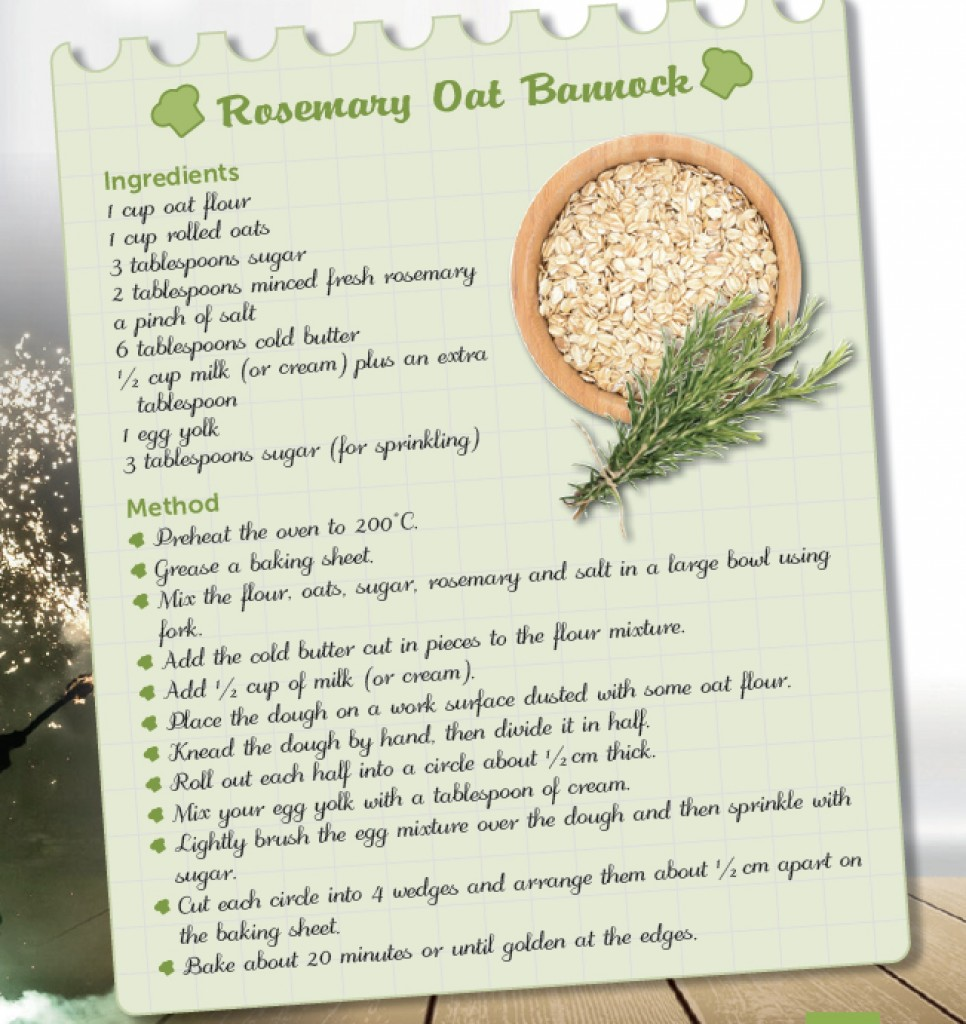 RECIPE – ROSEMARY OAT BANNOCK
