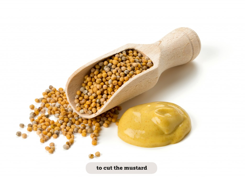 IDIOMS: TO CUT THE MUSTARD