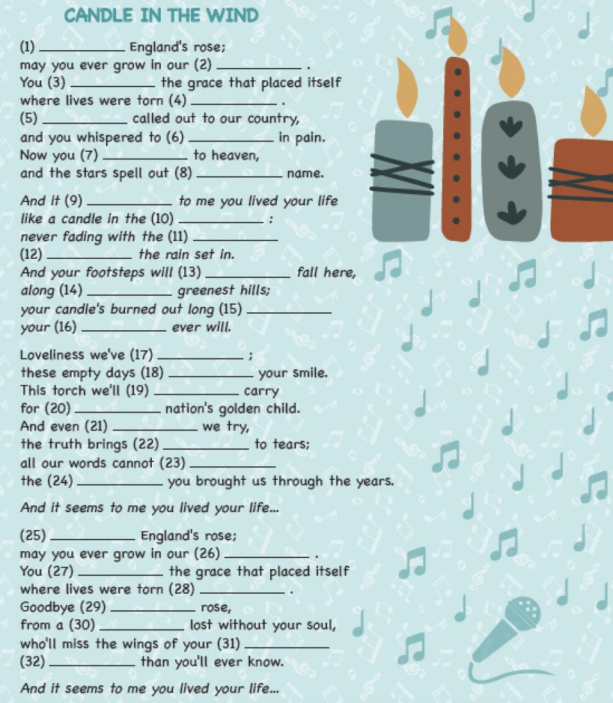 SONG – CANDLE IN THE WIND