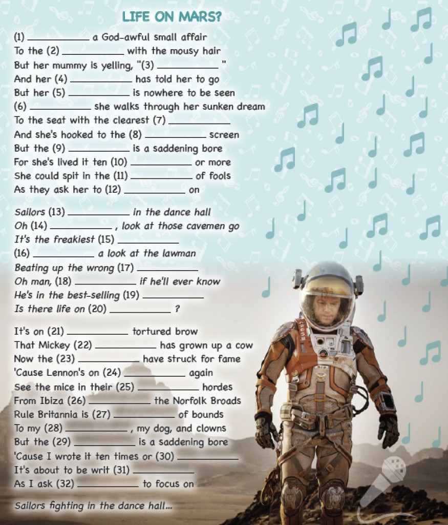 SONG – LIFE ON MARS?